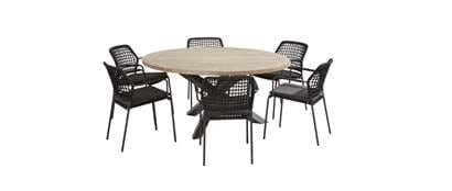 91122-90571_ Barista anthracite dining set with round Louvre table 160 cm.jpg