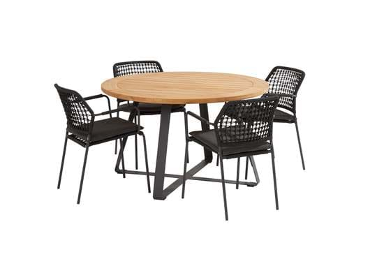 91122-91150-91151_ Barista anthracite dining set with round Basso table 130 cm.jpg
